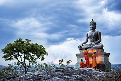 Nirvana Tempered Glass Wall Art, - Zen Buddha wall art