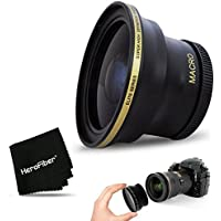 PRO 58MM Fisheye Lens for CANON EOS 80D, 70D, 60D, 7D Mark II, 6D, 5D Mark III, EOS REBEL T7i, T6i, T6S, T6, T5, T5i T4i T3, EOS 1300D, 1200D, 1100D EOS 760D, 750D, 700D DSLR Cameras and 58mm Lenses