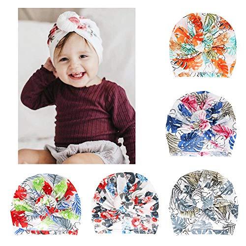 Baby Hospital Hat Soft Cotton Toddler Kids Girl Boy Head Wrap with Knot Cap Nursery Beanie