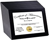 CreativePF [8.5x11bk] Black Document Frame Displays 8.5 by 11-inch Certificate, Graduation, University, Diploma Frames