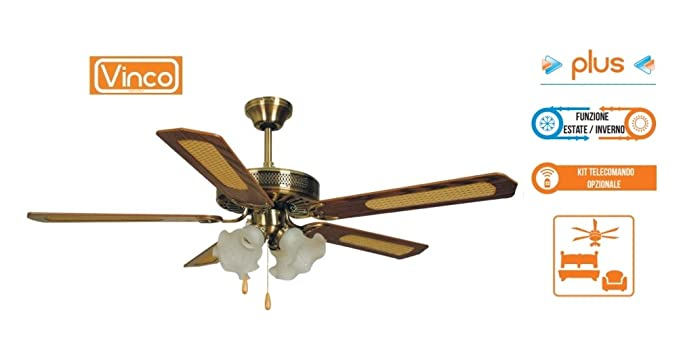 Plafoniere Con Bordo In Legno : Agitatore ventilatore da soffitto con 5 pale in legno noce scuro 4
