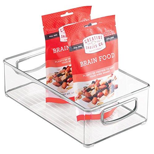 InterDesign 64330 Home Organizer Bin for Pantry, Refrigerator, Freezer & Storage Cabinet, 10 x 3 x 6, Clear Medium