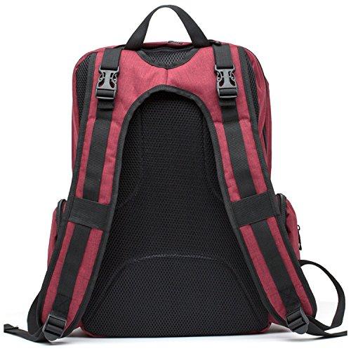 yooabc pañal Mochila bebé para cambio de pañales bolsa de gran capacidad multifuncional bolsas de viaje con aislamiento bolsillos azul azul rosso