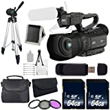JVC GY-HM200 GYHM200 4KCAM Compact Handheld Camcorder (International Model) + 64GB SDXC Class 10 Memory Card + Full Size Tripod + Carrying Case + Kit 6AVE Bundle