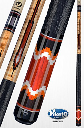 Cocobolo Joint (Viking A771 Pool Cue Stick 19 New Guinea Vermillion, White Pearl, Central American Cocobolo, West African Ebony Inlays Quick Release Joint ViKORE Shaft 18, 18.5, 19, 19.5, 20, 20.5, 21 oz. (20.5))
