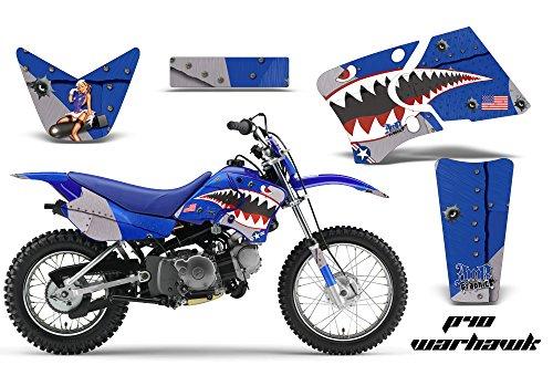 Yamaha TTR50 2006-2009 MX Dirt Bike Graphic Kit Sticker Decals TTR 50 WARHAWK BLUE (Graphic Kit Ttr50)