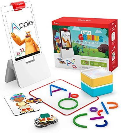 Osmo – Little Genius Starter Kit for Fire Tablet – 4 Educational Learning Games – Preschool Ages – Problem Solving, & Creativity – STEM Toy (Osmo Fire Tablet Base Included – Amazon Exclusive)