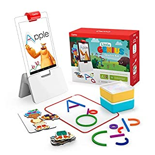 Osmo - Little Genius Starter Kit for Fire Tablet - 4 Educational Learning Games - Preschool Ages - Problem Solving, & Creativity - STEM Toy Fire Tablet Base Included - Amazon Exclusive