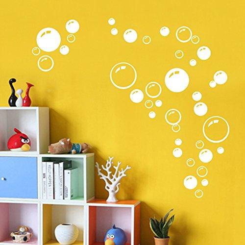 New Bathroom Art (SOLEDI Hot New Cute Waterproof White 86 Bubbles Wall Bathroom Window Tile Shower Art PVC Decal Sticker Decoration Decor)