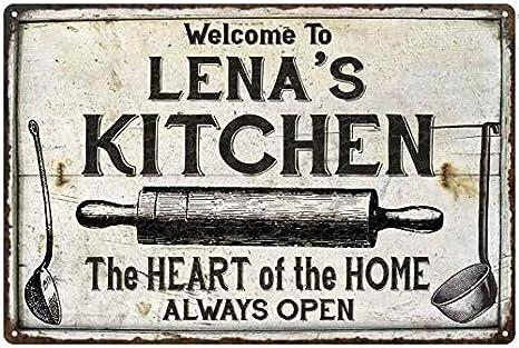 Amazon Com Chico Creek Signs Lena S Kitchen Farmhouse Sign