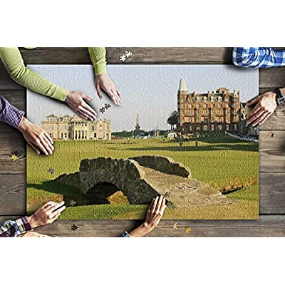 St Andrews Old Golf Course with Historic Architecture & Bridge 9020269 (Premium 1000 Piece Jigsaw Puzzle for Adults, 20x30, Made in USA!): Toys & Games