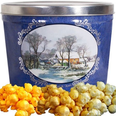 Currier and Ives Popcorn Gift Tin Small by Just Poppin