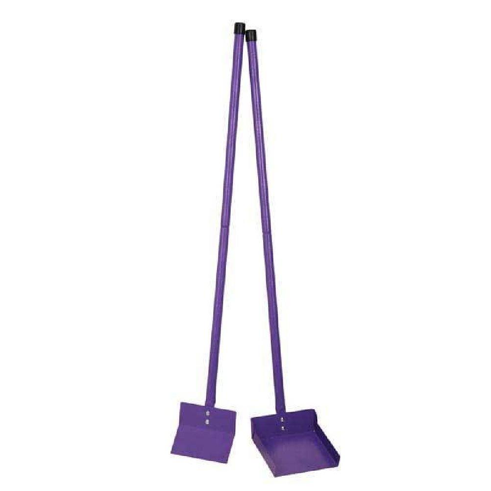 Sanitary Steel Color Scooper Blue Or Purple With Rake Shovel Poop Scoop