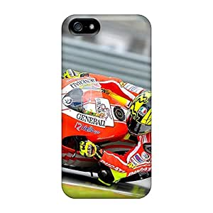 Protective Cell-phone Hard Cover For Iphone 5/5s (eYq8819yKvu) Provide Private Custom Beautiful Valentino Rossi Image