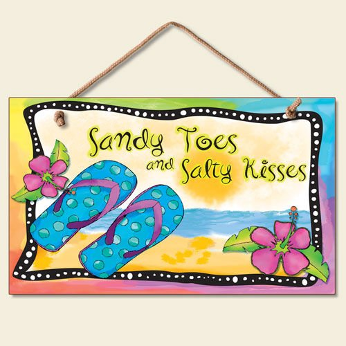New Flip Flops Wall Plaque Beach Sign Tropical Decor Coastal