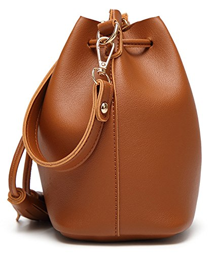 Shoulder Bag Purse Chic ilishop Women's Bag Cross ilishop Brown Ladies Leather Hobo body Handbags Small Handbags Women for nxIzpPYUq