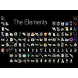 SJ1052 Periodic Table of the Elements Realistic 24x18 Print POSTER