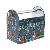 Paw Prints 37591 Word Design Tin Supply Caddy, 5.13'' x 8.38'' x 8''
