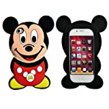 Authentic 3D Cute Cartoon Mouse Soft Silicone Case Cover For Iphone 4 4S 4G