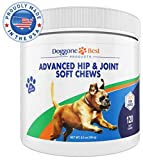 Dog Joint Supplement - All Natural Glucosamine, Chondroitin, MSM & Organic Turmeric is Best to Help Relieve Hip & Joint Pain - Tasty Duck Flavored Treats - Made in The USA - 120 Soft Chews