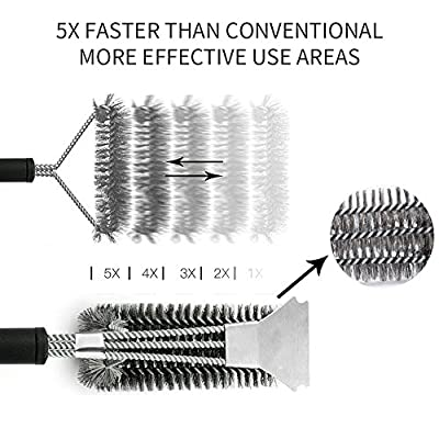 """Grill Brush and Scraper - 8 in 1 BBQ Sets 