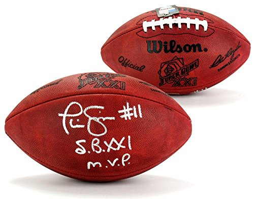 Phil Simms Signed Wilson Authentic Super Bowl 21 NFL Football with