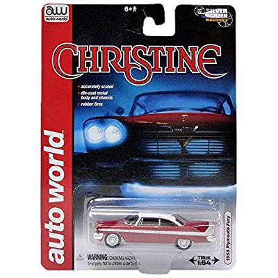 "Diecast 1958 Plymouth Fury ""Christine\"" 1/64 Diecast Car Model by Autoworld: Toys & Games"