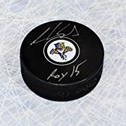 Aaron Ekblad Florida Panthers Signed Autograph Model Hockey Puck w/Roy 15 Note