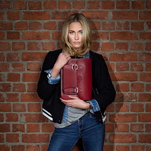 Tessa Laptop hobo Camel amp; Body Bag Handbag Real inch beige Black SID Leather Cross Shoulder Women´s Bag VAIN Bag iPad Woman fits P4qnYpvwx