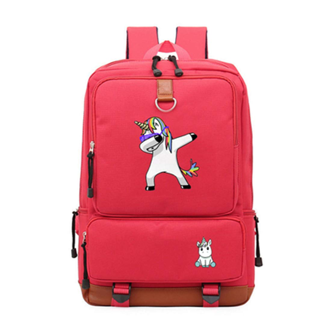 bluee5 one size Cute Cartoon Unicorn Backpack Teenagers Women's Student School Bags Travel Multifunction USB Charging Black3