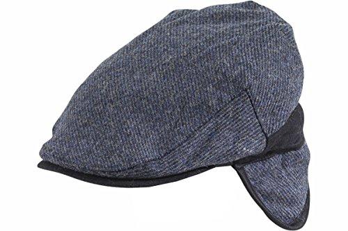 Dorfman Pacific Men's Blue Earflap Ivy Cap Hat Sz: L/XL (Dorfman Pacific Ivy)