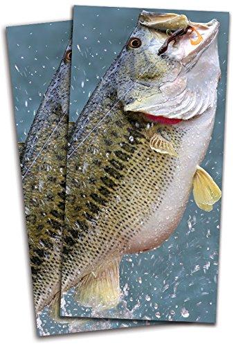Bass Jumping釣りCornhole Bag Toss Wrapsセット – 3 M高光沢ビニールエアリリース – ラミネート – 24 x 48