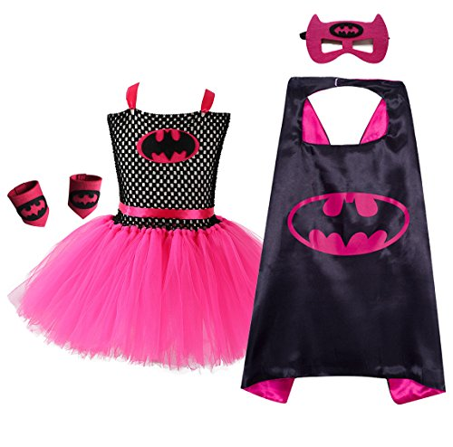 AQTOPS Supergirl Costumes for Girls Batgirl Fluffy Tutu Dress -