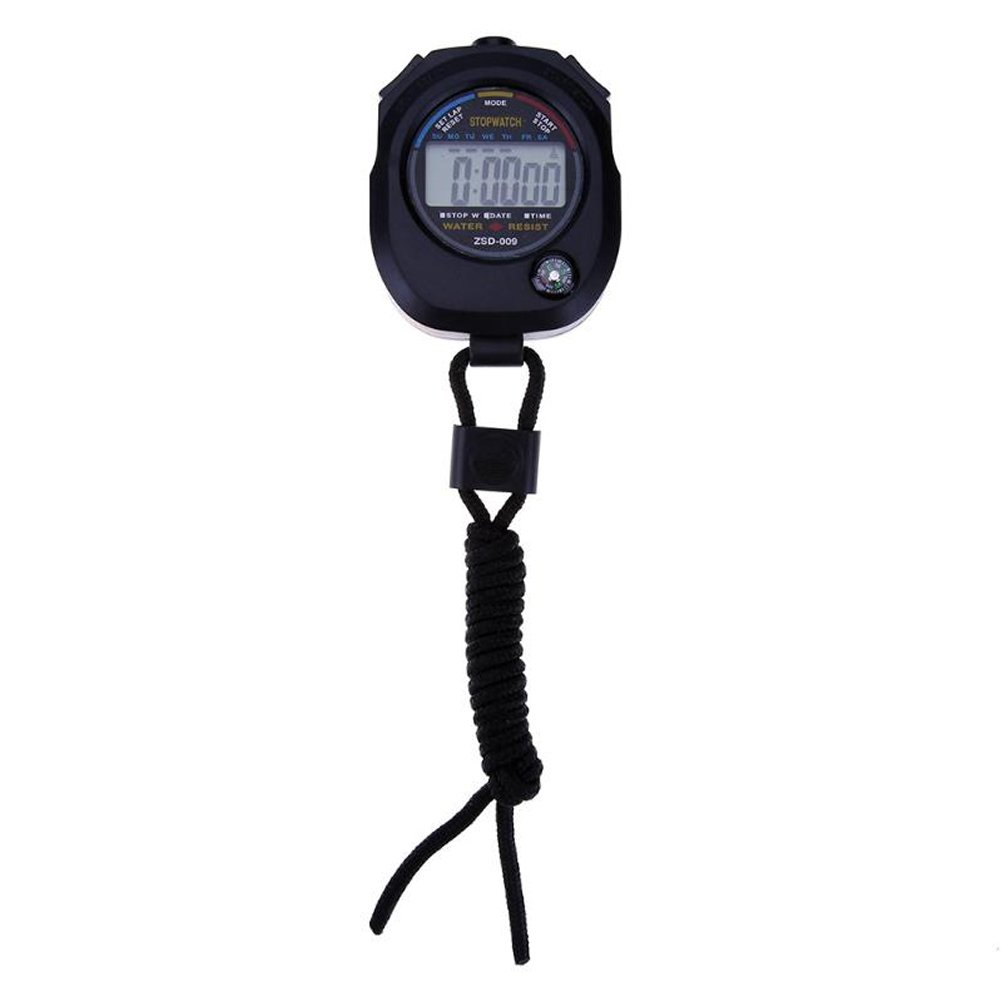 dds5391 Professional Handheld Gym Timer,Waterproof Digital LCD Stopwatch Sports Counter Gym Timer