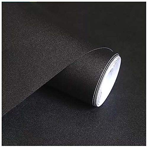 Black Contact Paper, H2MTOOL Removable Self Adhesive Wallpaper Peel and Stick (17.7 x 78.7, Black)
