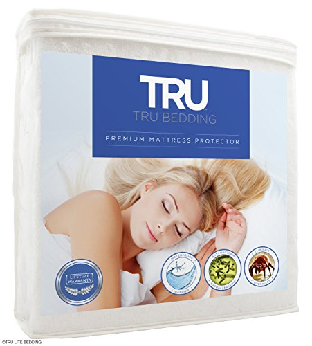 Sky Bedding Mattress Protector - Premium Terry Cotton Mattress Cover - 100% Waterproof, Hypoallergenic, & Breathable