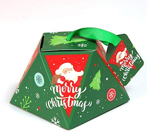 KHKJHT 50 (PCS) Creativa Caja de Embalaje de Dulces de Navidad Caja Caja de azúcar para Hornear Caja de Regalo de cartón Suministros para Fiestas navideñas: Amazon.es: Hogar
