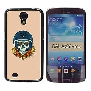 GOODTHINGS Funda Imagen Diseño Carcasa Tapa Trasera Negro Cover Skin Case para Samsung Galaxy Mega 6.3 I9200 SGH-i527 - corona de oro del corredor del coche campeón de moto