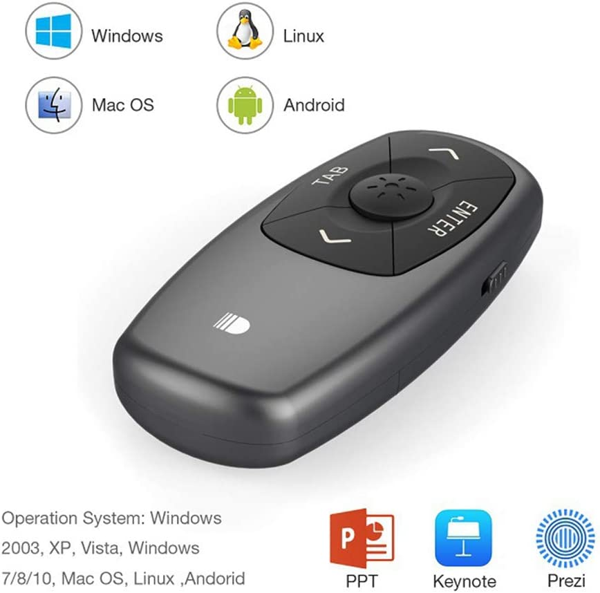 HAOw2019 Remote Control with Red Pointer Compatible with Windows XP SE and Apple Vista Win7//8//10 Android and Other Operating Systems Compatible with Various Page Format Files