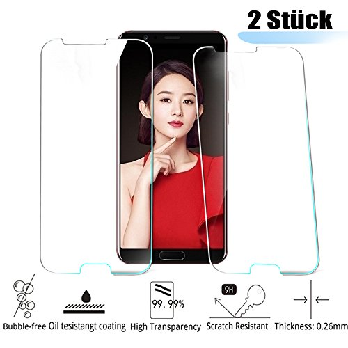 1 opinioni per Huawei Honor V10 Pellicola Protettiva, MiSha (2 Pezzi) 9H Durezza Vetro