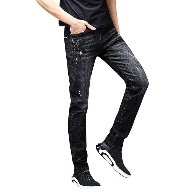 beautyjourney Jeans Slim de Hombre Pantalones de Trabajo de ...