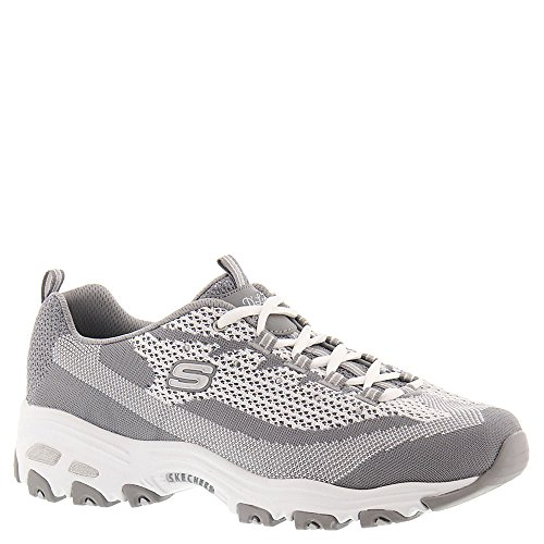 SKECHERS Women's D'Lites Reinvention Gray/White Oxford 11955