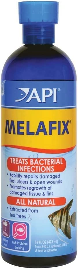 API MELAFIX Fish remedy, Contains natural tea tree extract to heal bacterial infections, repair fins, ulcers & open wounds, Use when treating infection or to prevent disease outbreak when adding fish
