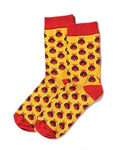 Yo-Sox Women's Fashion Crew Socks - Lady Bugs (Fashion Bug Plus Size)