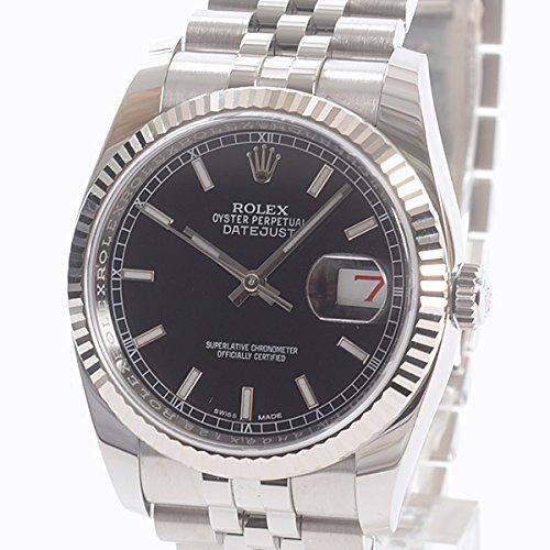 [ロレックス]ROLEX 腕時計 オイスターパーペチュアルデイトジャスト36 116234 ランダム 中古[1305702] ランダム ブラック B07DPCY1SL