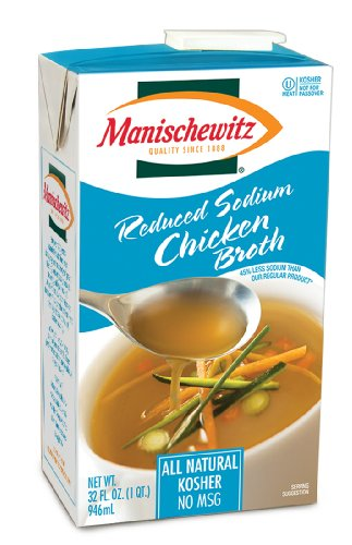 Manischewitz Reduced Sodium Chicken Broth, 32-Ounce Packages (Pack of (Manischewitz Chicken Broth)