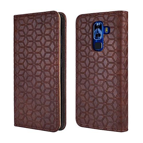 NUU Mobile G3 Case, NUU G3+ case [Kickstand] [Card Slot+Side Pocket] Premium Soft PU Color Matching Leather Wallet Cover Flip Case Protective Case for NUU G3 (Brown)