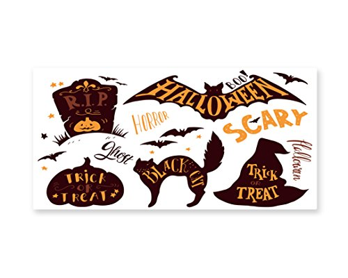 Lunarable Vintage Halloween Wall Art, Halloween Symbols Tric