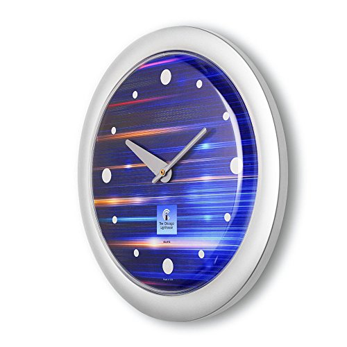 Buy chicago lighthouse silver contemporary clock