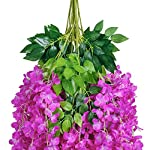 UArtlines-12-Pack-36-FeetPiece-Artificial-Fake-Wisteria-Vine-Ratta-Hanging-Garland-Silk-Flowers-String-Home-Party-Wedding-Decor-Extra-Long-and-Thick-12-Purple-Red